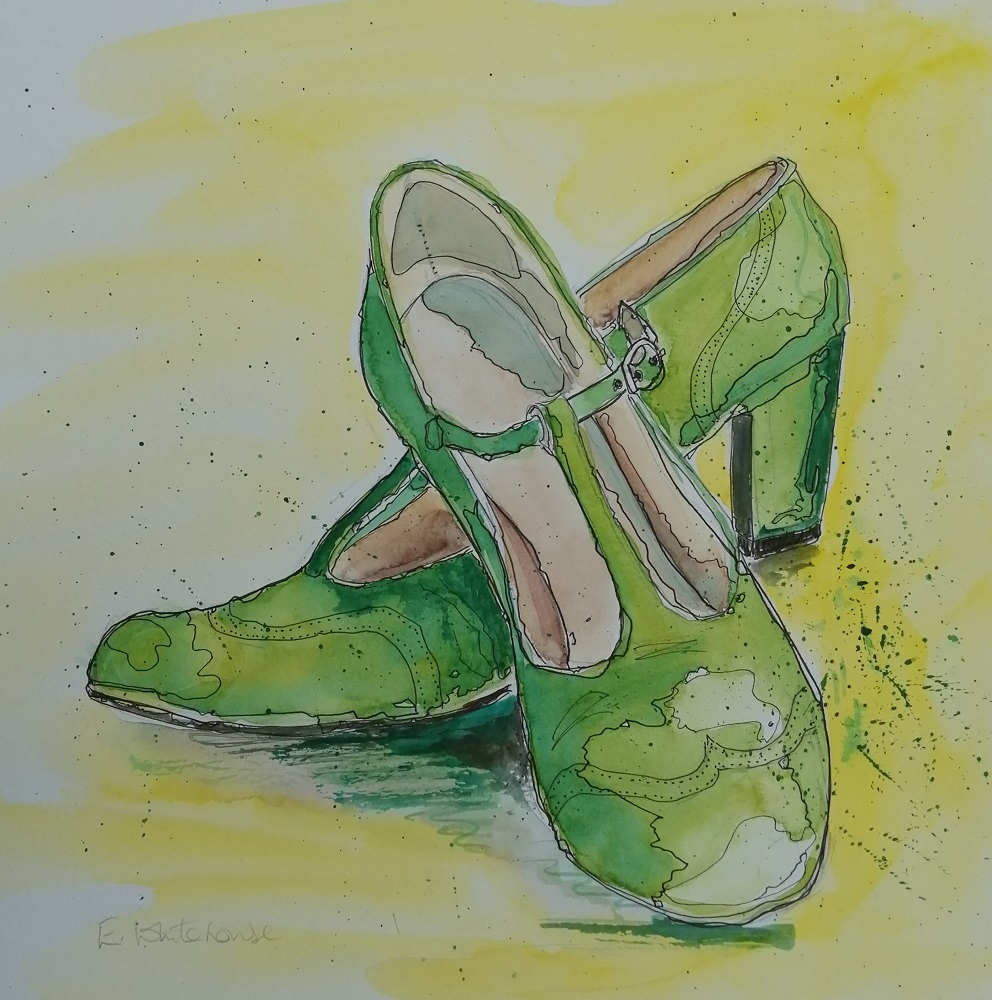 Green Vintage Shoes
