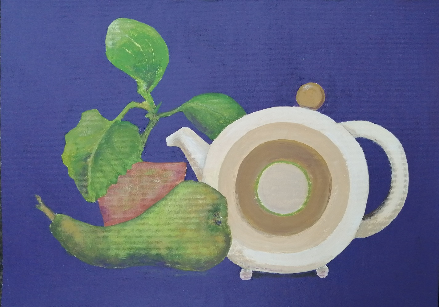 Conference Pear and Vintage Clarice Cliff Teapot